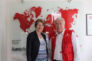 Mit Wolfgang Groß, Geschäftsführer von humedica in Kaufbeuren