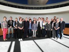 Bundesfreiwilligendienstleistende zu Besuch im Bundestag