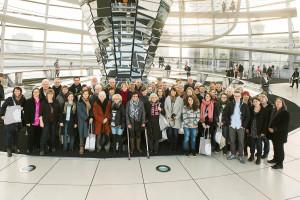 Als kleines Dankeschön für ihr haupt- und ehrenamtliches Engagement im Bereich der Flüchtlingshilfe lud Ulrike Bahr die TeilnehmerInnen vom 17.-21. Februar 2016 nach Berlin ein