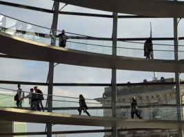 Besuch der Kuppel des Reichstags (Foto Angelika Lonnemann)