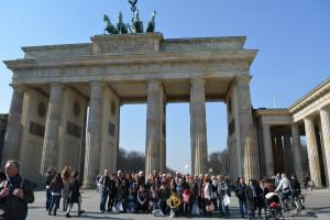 Mit dem Brandenburger Tor
