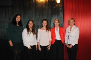 Podiumsteilnehmer (v.l.n.r.): Birgit Gaile, Olivia Haußmann, Yvonne Weber, Ulrike Bahr, Sabine Rochel