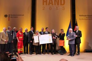 Bei der Verleihung des Preises für innovative Konzepte