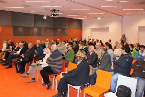 Das S-Forum in der neuen Stadtbücherei war gut gefüllt.