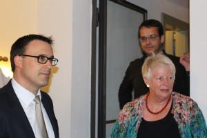 Sören Bartol, MdB gemeinsam mit Friedegard Warkentin, Leiterin von Eser21