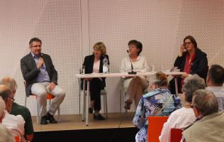 Während der Podiumsdiskussion mit dem Publikum