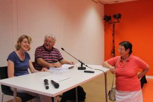 Ulrike Bahr, MdB im Gespräch mit Prof. Dr. Martin Pfaff und seiner Frau Prof. Anita Pfaff