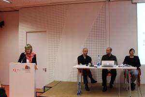 Während der Podiumsdiskussion mit Dr. Nordbruch und seinen Augsburger Kolleg_innen