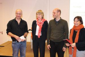 V.L.N.R: Dr. Götz Nordbruch, Ulrike Bahr, MdB, Matthias von Sarnowski und Dr. Bettina Wuttig