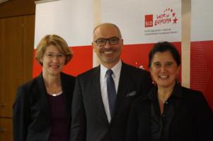 Mit den beiden Europaabgeordneten Maria Noichl und Peter Simon.