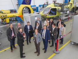 Mit Mitgliedern der bayerischen Landesgruppe der SPD im Deutschen Bundestag zu Gast bei Airbus Helicopters in Donauwörth.