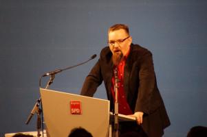 Der Vorsitzende der AfA, Florian Böhme, thematisierte die Erfolge der IGMetall.