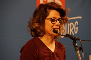 Margarete Heinrich betonte unter anderem ihre Solidarität mit den Beschäftigten von Ledvance.