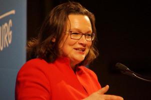 Andrea Nahles forderte dazu auf, die Turbulenzen in der SPD zu beenden.