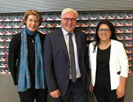 Mit Bundesaußenminister Frank Walter Steinmeier und der Bundestagsabgeordneten Gülistan Yüksel.