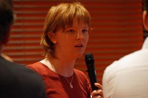 Die Vorsitzende der schwäbischen Jusos, Anna Rasehorn.