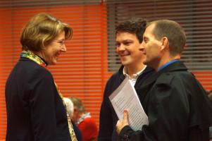Mit dem amerikanischen Konsul Scott E. Woodard (rechts) und dem Leiter des Augsburger Wahlkreisbüros, Robert Kratzsch.