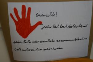 Auch die Kinderrechte wurden beim Aktionstag vorgelesen.