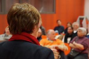 Zu einer weiteren Diskussion über die Regierungsbildung hatte Ulrike Bahr in die Stadtbücherei geladen.