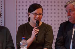 """Daniela Renger, Leiterin der Kita """"Denk mit! Zwerge"""" betonte die Wichtigkeit früher Sprachförderung bei Kindern."""
