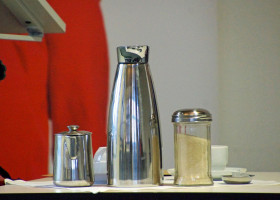 Der Referent ist auch für seinen Kaffeekonsum berühmt