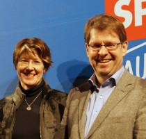 Mit SPD-Vize Ralf Stegner beim Politischen Aschermittwoch in Augsburg.