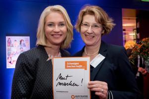 Mit Bundesfamilienministerin Manuela Schwesig. Foto: Regina Sablotny.