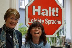 Ulrike Bahr mit Maria Hütter