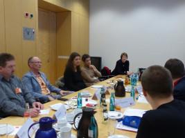 Ledvance-Betriebsräte und Vertreter der IG Metall erläuterten ihre Sichtweise auf die Ankündigungen des Unternehmens.