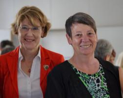 Mit der Bundesministerin für Umwelt, Naturschutz, Bau und Reaktorsicherheit Dr. Barbara Hendricks.