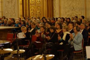 Empfang anlässlich des internationalen Frauentags im Augsburger Rathaus. Rund 500 Frauen und eine Handvoll Männer waren der Einladung gefolgt.