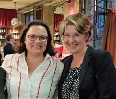 Mit der SPD-Vorsitzenden Andrea Nahles
