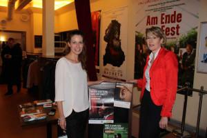 """Yvonne Weber, Produzentin der Sat1-Produktion """"Die Ungehorsame"""" mit Ulrike Bahr, MdB"""