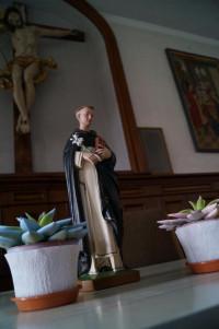 Dominikus im Speisesaal der Schwestern im Kloster Wettenhausen.