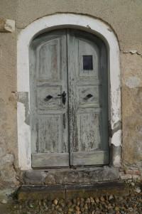 Eingangstür zur ehemaligen Klosterbrauerei in Wettenhausen.