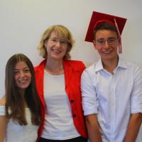 Ulrike Bahr mit Laura Massa und Felix Kuschel