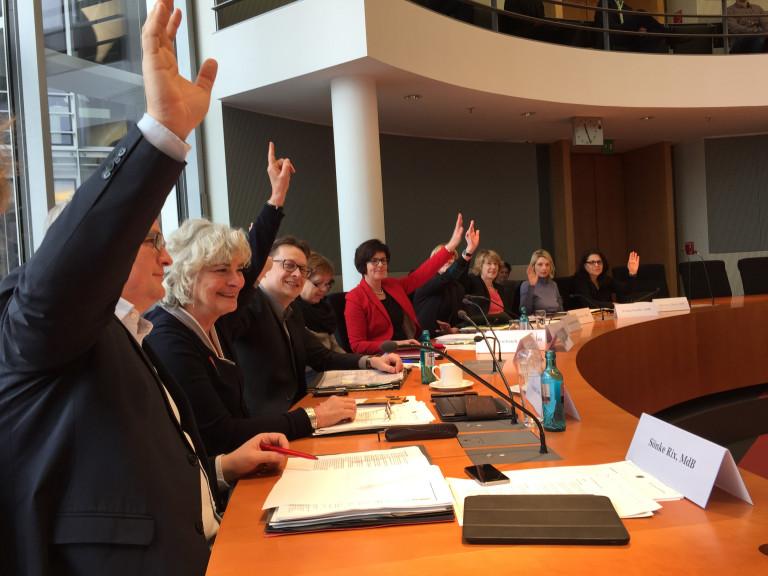 Abstimmung Ausschuss